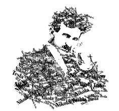 Nicola Tesla type art by blueroy, via Flickr