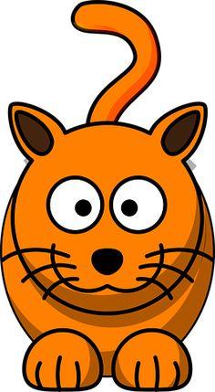 Gratis obraz na Pixabay - Kot, Zwierząt, Koci, Kitty Public Domain, Tiger Vector, Kawaii Cat, Kids Stickers, Stick Figures, Rock Crafts, Animals Of The World, Clipart, Online Art