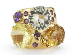 Check out this jaw-dropping Roberto Coin 18K Yellow Gold Semiprecious Stones Ring from the Ipanema Collection!!