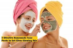 3 Effective Homemade Face Packs to Get Clear Glowing Skin  http://lifeblender.com/effective-homemade-face-packs-for-glowing-skin/