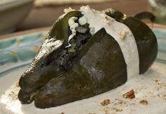 Chiles rellenos de Huitlacoche