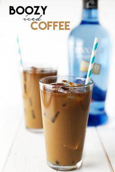 Boozy Iced Coffee | We kick it up a notch with vodka and irish cream @karissakrishart