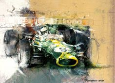Jim Clark Lotus 49: Limited edition print by Jonathan (Joff) Carter // artfortyeight