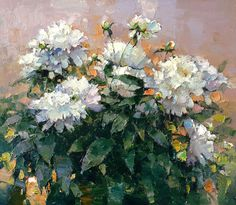 """""""Sarah Bernhardt"""" peonies - Alexi Zaitsev - Sale of paintings and other art works"""