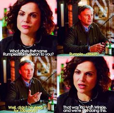 What does the name Rumplestiltskin mean to you? / Regina & Rumple / 7.08