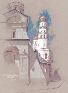 Churches and Old buildings painting by Denis Korobkov Churches and Old buildings Artwork by Denis Ko Architecture Sketchbook, Arte Sketchbook, Art And Architecture, Pastel Drawing, Pastel Art, Buildings Artwork, Cardboard Art, Building Art, Chalk Pastels
