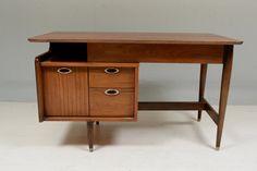 Mid Century Modern Floating Desk Mainline by Hooker on Etsy, $750.00