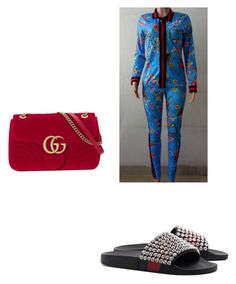 """""""Inspired look using my two piece flower set from @girlboss_academy"""" by munford-laneisha on Polyvore featuring Gucci"""