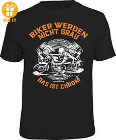 Das Geschenk-T-Shirt für den etwas älteren Motorradfahrer: Biker werden nicht grau - das ist Chrom Größe XL - T-Shirts mit Spruch | Lustige und coole T-Shirts | Funny T-Shirts (*Partner-Link)
