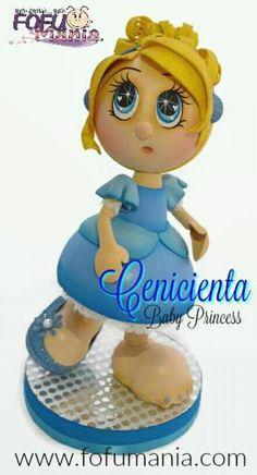 Baby Princess, Disney Princess, Doll Face Paint, Cinderella Party, Cute Eyes, Kokeshi Dolls, Pasta Flexible, Sugar Art, Diy And Crafts