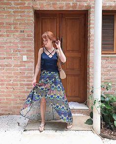 Roubando a porta da casa do @mohindi pra clicar esse Look lindo que eu amei mto 💖 viram no snap ontem que eu invadi a casa dele? 😂 { esse Look completo eh claro que eh da @carmensteffens 💖 to cada vez mais apaixonada pela marca ✨💖 }