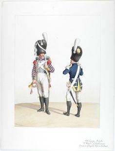 1818. Royal Guard. Infantry. (3rd Regiment) Cone Voltigeurs Fife rifle.