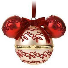 Hinged Victorian Mickey Mouse Holiday Ornament