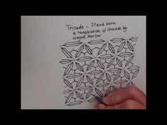How to draw tanglepattern Trisade