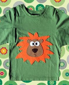 Aplicación en camiseta Twin Baby Clothes, Sewing Kids Clothes, Sewing For Kids, Baby Sewing, Applique Patterns, Applique Designs, Embroidery Designs, Sewing Patterns, Fabric Paint Shirt