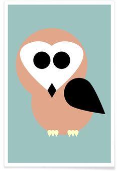 Celine the Owl par Marx & Croft en Affiche premium   Achetez en ligne sur JUNIQE ✓ Livraison fiable ✓ Découvrez de nouveaux designs sur JUNIQE !