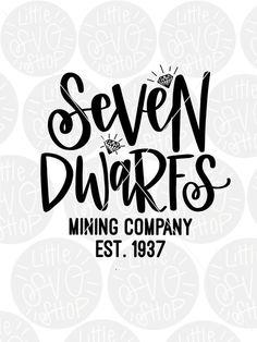 Magic Kingdom SVG - seven dwarfs - Disney trip t-shirt design SVG cut file // Hand lettered cut file
