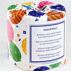 Birthday Toilet Paper Card