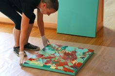 Cassandra Tondro finished green painting