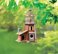 Beautiful hanging bird house from www.abirdhousestore.com