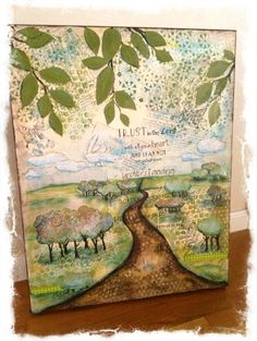 Mixed media on canvas ...Proverbs 3:5-6...by AngelaDavisDesigns