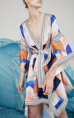 Verona Scarf Kimono Mini Dress by Acler
