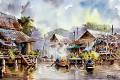 watercolor waterscapes - Google Search