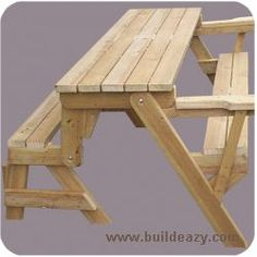 Folding Picnic Table To Bench Seat Free Plans How