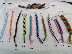 Made to Order Plastic Lace Keychains Lanyard Crafts, Bracelet Crafts, Candy Bracelet, Plastic Lace Crafts, Ribbon Crafts, Scooby Doo, Diy Birthday Gifts For Sister, Diy Bracelets Easy, Piercings