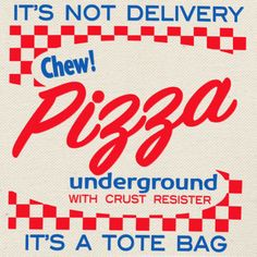 The Pizza Underground Pizza Box Tote by by ThePizzaUnderground