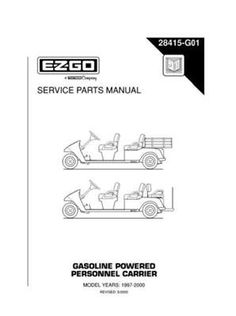 Ezgo 36068g01 2003 service parts manual for e z go electric powered ezgo 28415g01 1997 2000 service parts manual for gas personnel carrier by ezgo 6850 publicscrutiny Image collections