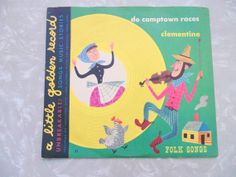childrens LITTLE GOLDEN RECORDS with pictorial by OurVintageHouse, $8.00