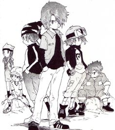 The Legendary Digidestined. Digimon Frontier. Season 4. Takuya, Kouji, Koichi and the others kids was reponsable for save Digital World from chaos in ancident times defeating Lucemon, one of the 7 Dark Lords who control the darkness in Digital World. This history was knowed by Digimon Frontier.