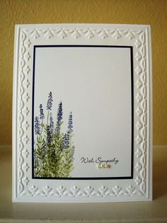 sympathy card by Penny... (could use Flower Soft on this)