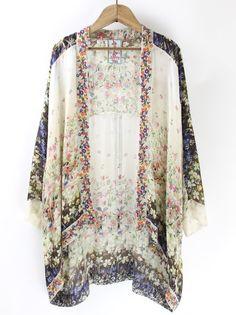 Johnny Was Jazzy Kimono – The Rollin' J | embroidered kimono. Floral print. Lightweight. Boho style. Bohemian style. Summer fashion. Summer style.