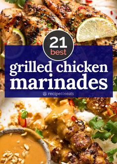 BEST Grilled Chicken marinades - My very BEST Grilled Chicken Marinades! Hand picked out of hundreds of chicken recipes I've shared over the years, these marinades are MADE for chicken cooked on the BBQ! Teriyaki Chicken, Asian Marinade For Chicken, Chicken Doner, Best Grilled Chicken Marinade, Mexican Grilled Chicken, Grilled Chicken Recipes, Marinated Chicken, Grilled Meat, Chicken Recipes On The Bbq