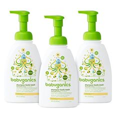 Babyganics Baby Shampoo  Body Wash Chamomile Verbena 16oz Pump Bottle Pack of 3 >>> Learn more by visiting the image link.