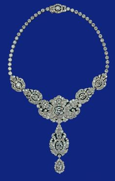 Kate Middleton Dazzles in the Queen's Nizam of Hyderabad diamond and platinum necklace, made by Cartier. (Not technically owned by Kate.)
