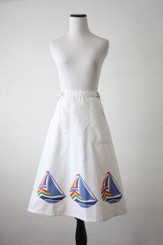 vintage sailboat skirt