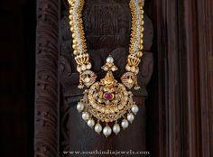 Traditional Antique Jewellery Collections, Traditional Long Haram Designs, Traditional Gold Long Necklace Collections.