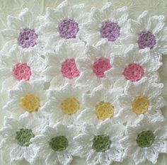 Fresh As A Daisy - Crochet Flowers, Appliques - www.luulla.com