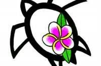 Turtle Tattoo Design Pattern Art-