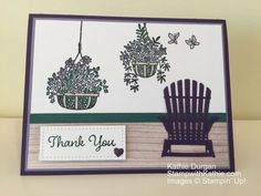 Stamp With Kathie – Page 11 – Kathie Durgan, Independent Stampin' Up! Demonstrator / Card Making and Papercrafts Hanging Planters, Hanging Baskets, Hanging Gardens, Beach Cards, Ink Pads, Stamping Up, Stampin Up Cards, I Card, Thank You Cards