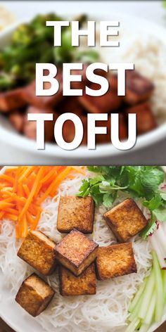 This is the best tofu recipe I've tried! The marinade is so easy and delicious. #tofu #vegan #easy