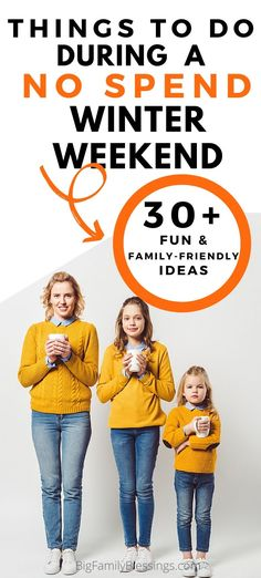 30 fun and family friendly things to do during a no spend winter weekend. Fun Activities For Kids, Winter Activities, Family Activities, No Spend Challenge, Budget Help, Winter Survival, Show Me The Money, Sick Kids, Frugal Living Tips