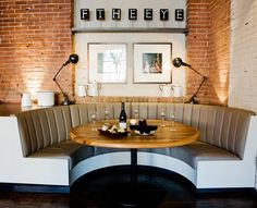 banquette in basement Restaurant Banquette, Restaurant Seating, Restaurant Furniture, Restaurant Design, Restaurant Offers, Restaurant Ideas, Fire Pit Table And Chairs, Toddler Table And Chairs, Outdoor Dining Chair Cushions