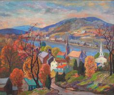 """Autumn From Music Circus Hill, Lambertville,"" Fern Isabel Coppedge, oil on canvas, 25 x 30 1/2"", private collection."