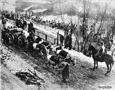 WWI, Turkish supply wagons pass by Austrian cavalry and German infantry in Romania. All four Central Powers contributed to the defeat of Romania. World War I, Old World, Independence War, Turkish Army, Serbian, Ottoman Empire, Ulsan, Wwi, Latina