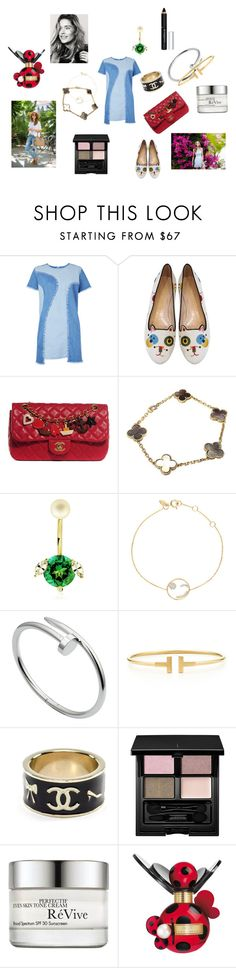 """Ladybird"" by maria-chamourlidou ❤ liked on Polyvore featuring House of Holland, Charlotte Olympia, Chanel, Van Cleef & Arpels, Delfina Delettrez, Ruifier, Cartier, Tiffany & Co., SUQQU and RéVive"