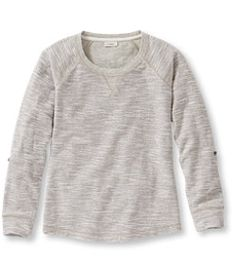 #LLBean: Textured French Terry Pullover